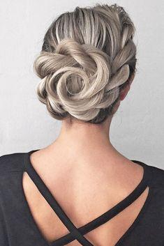 30 Overwhelming Boho Wedding Hairstyles ❤️ boho wedding hairstyles creative flowershaped updo nstarck ❤️ See more: http://www.weddingforward.com/boho-wedding-hairstyles/ #wedding #bride #weddinghairstyles #bohoweddinghairstyles
