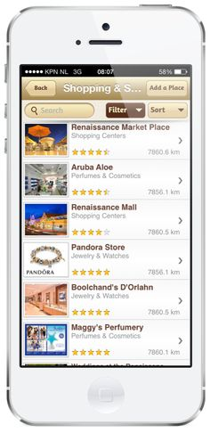 Want to know where to shop when you are on the island? Download the official Aruba app for free.  IOS: https://itunes.apple.com/us/app/aruba-travel-guide/id526111011?mt=8   Android: https://play.google.com/store/apps/details?id=com.aruba.guide&hl=en