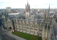 Marischal College in Aberdeen, Scotland.