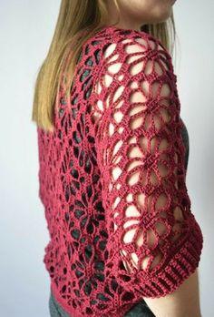 Crochet shrug free pattern knitting 23 New Ideas Gilet Crochet, Crochet Jacket, Crochet Cardigan, Crochet Shawl, Crochet Afghans, Knit Crochet, Cardigan Pattern, Crochet Summer, Poncho Knitting Patterns
