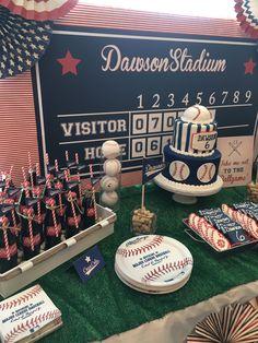 Baseball Theme Birthday, Baby Boy 1st Birthday, First Birthday Parties, Birthday Party Themes, Boys First Birthday Party Ideas, Theme Parties, 8th Birthday, Softball Party, Party Fiesta
