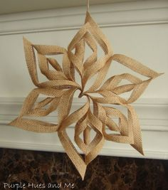 Purple Hues and Me: Burlap 3D Snowflakes Paper could be used