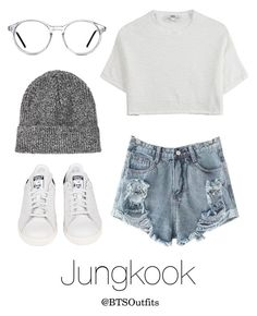 """SMTM Stage with Jungkook"" by btsoutfits ❤ liked on Polyvore featuring Hope, adidas, Topshop and GlassesUSA"