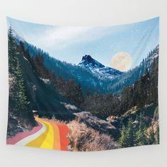 Buy 1960's Style Mountain Collage Wall Tapestry by justinek28. Worldwide shipping available at Society6.com. Just one of millions of high quality products available.