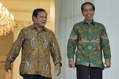 Indonesian President in Batik. Indonesian National Custom for male.
