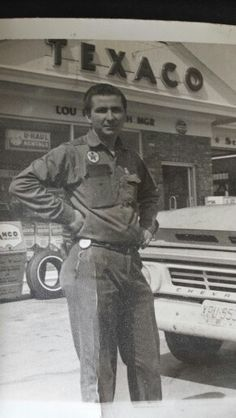 My father, manager of the Texaco in Freehold, NJ Gas Service, Texaco, Gas Pumps, Gas Station, Old School, Nostalgia, Father, Oil, Vintage