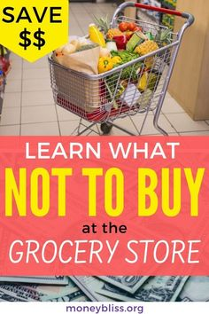 Grocery shopping on a budget. Then, learn what not to buy at the grocery stores. Use this shopping list and money saving hack to save money. Plus shop without coupons Clean Eating Grocery List, Shopping List Grocery, Grocery Store, Frugal Living Tips, Frugal Tips, Eat On A Budget, Save Money On Groceries, Money Saving Tips, Extra Money