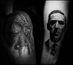 Lovecraft tribute tattoo by Michele Bartocci on 500px done by Matteo Cascetti tattoo artist