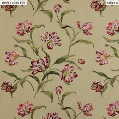 Manuel Canovas printed floral drapery fabric can be purchased through www.janehalldesign. com