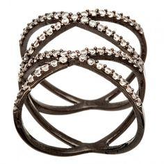 Dark, black rhodium jewelry is hot this fall & winter #fallfashion #accessories #trends