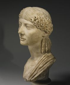 A Marble Portrait Bust of a Woman, Roman Imperial, reign of Claudius, A.D. 41-54