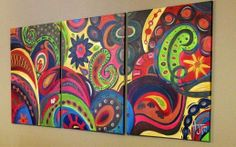 paisley painting, paisley decor