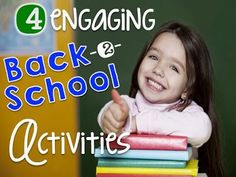 4 engaging back to school activities perfect for the first day of building community. Includes a FREEBIE!