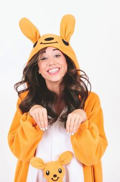 Hanging out in my kangaroo suit! -Colleen