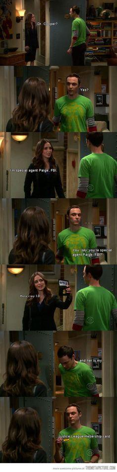 Sheldon vs. the FBI…