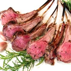 These lamb lollipops are rubbed with a rosemary and garlic paste then grilled. Impressive as an appetizer or the main course star. Perfect for spring!