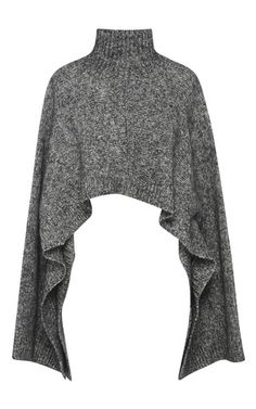 Cropped Wool Blend Turtleneck Top by MARNI Now Available on Moda Operandi