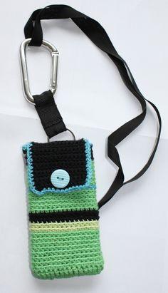 Hæklet iPhone taske - Handmade by LS  www.lisbeth-s.dk