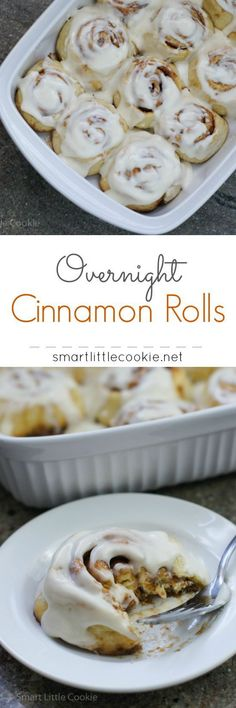 Overnight Cinnamon Rolls ~ Delicious cinnamon rolls with cream cheese ...
