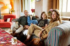 Christopher Brooks, Amanda Brooks and their children Coco and Zach at their home in Oxfordshire, England.