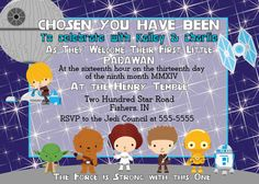 Digital Star Wars Baby Shower Invitation By Spencervillejunction