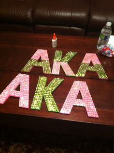 Greek Sequin Wall Letters as probate gift! #aka #alphakappaalpha