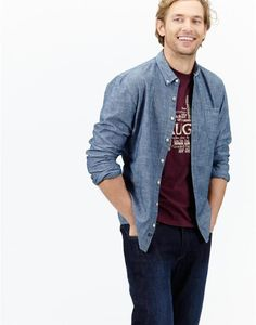 Discover a men's shirt for all occasions at Joules. From classic to contemporary slim-fit, there's one for every gentleman. Joules Uk, Chambray, Shirt Outfit, Slim, Classic, Fitness, Sweaters, Christmas, Shirts