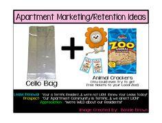 Apartment Marketing/Retention Ideas. ~ Layout Designed by Bonnie Rose.
