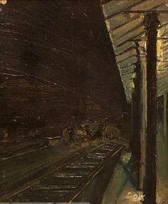 Otto Dix - Bahnsteig (1913)