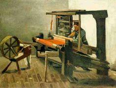 "Vincent van Gogh ""Weaver Facing Left, with Spinning Wheel"" / March Nuenen / Oil on canvas, 63 x 84 cm / Museum of Fine Arts, Boston Vincent Van Gogh Pinturas, Vincent Willem Van Gogh, Paul Gauguin, Nocturne, Van Gogh Photo, Van Gogh Arte, Art Van, Dutch Painters, Post Impressionism"