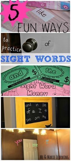 5 Fun Ways to Practice Sight Words at Home