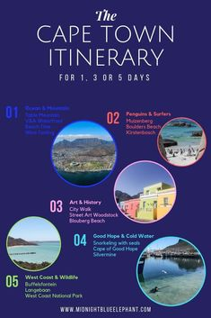 Click through for a unique Cape Town itinerary for 3 or 5 days. Learn about the best Cape Town tours, sights you shouldn't miss and true insider tips and advice on how to get around and plan your Cape Town holidays. What to do in Cape Town Cape Town Holidays, Boulder Beach, Africa Destinations, Cape Town South Africa, V&a Waterfront, Worldwide Travel, Africa Travel, Wine Tasting, Penguin
