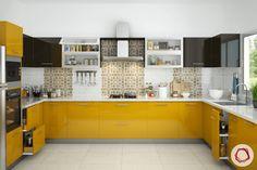 contrasting kitchen cabinets Kitchen Room Design, Modern Kitchen Design, Home Decor Kitchen, Interior Design Kitchen, Kitchen Furniture, Furniture Design, Modern Bar, Modern Kitchens, Kitchen Living
