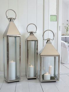 The big boys in our lantern collection, these strong contemporary-style lanterns will create a stunning display, especially when several different sizes are grouped together.