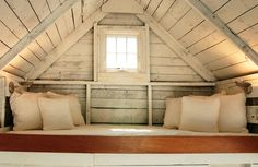 Tucked away sleeping loft.... I need a simple, tiny house somewhere that I can retreat to every once in a while...