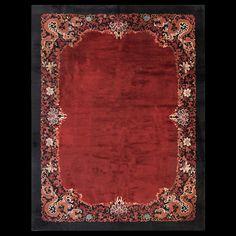 Chinese - Art Deco Circa: 1920 Color: Red Origin: China Width: 9' 3'' ( 281.9 cm ) Length: 12' 0'' ( 365.8 cm )#antiquerugstudio #chineserug #rug #redrug #chinese #nyc #RADR Stock Id: #22507