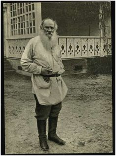 Leo Tolstoy, looking just I as I imagined him.