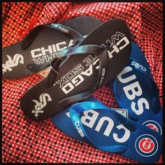 Chicago White Sox and Chicago Cubs Flip Flops Great by fancyflop, $21.00 Father's Day Gift