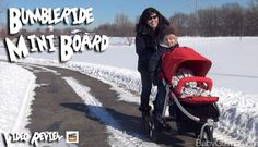 "Bumbleride Indie & Mini Board review & giveaway by @Baby Gizmo  -  ""This skateboard-style board is a perfect way to extend the life of your Bumbleride Indie or Indie Twin to accommodate those growing toddlers who just want to catch a ride from time to time. The Mini Board easily clamps to the frame of your Bumbleride stroller in seconds and features a slip-resistant deck for your toddler to stand on while they hold on to the handlebar."""