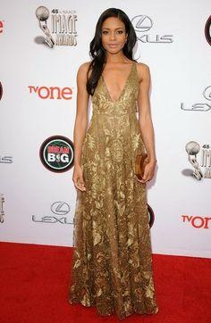 Naomie Harris in Valentino - NAACP Image Awards 2014
