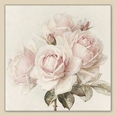 Decoupage Napkins | Vintage Rose Bouquet |Pink Tea Rose Napkins ...