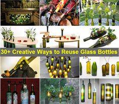 30+ Creative Ways to Reuse Glass Bottles   www.FabArtDIY.com