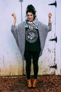 I would 100% wear this to work. rocker tee with leggings, oversize sweater with chunky scarf. I LOVE