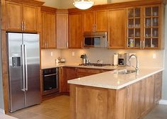 See how the U-Shaped kitchen can be one of the most functional layouts you can choose. U Shaped Kitchen, Kitchen Cabinets, Layout, Kitchens, Design, Home Decor, U Shape Kitchen, Decoration Home, Page Layout