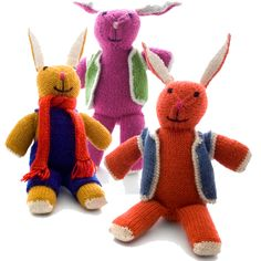 Handmade Stuffed Bunny Knit from Alpaca from Peru