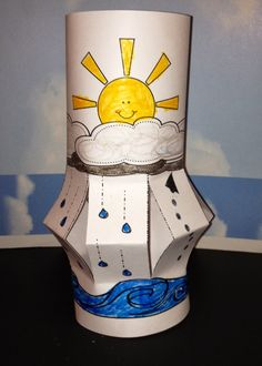 Water cycle craft --- a water cycle lantern by Robin Sellers