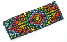 Items similar to Seed Beaded Bracelet.Unique Rainbow Bracelet woven in Loom's. on Etsy Seed Bead Bracelets, Loom Bracelets, Seed Beads, Native Beadwork, Native American Beadwork, Seed Bead Patterns, Beading Patterns, Beadwork Designs, Loom Beading
