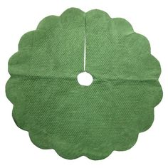 """Quilted Velvet Tree Skirt (48"""")  Readymade quilted cotton velvet tree skirt from Target priced at $30 and ready to decorate and personalize.  Hmmm..."""