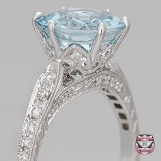 Aquamarine engagement ring Yep.... this is my dream!!! :) my birthstone too!