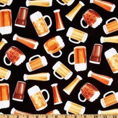 Timeless Treasures Adult Novelties Beer Black